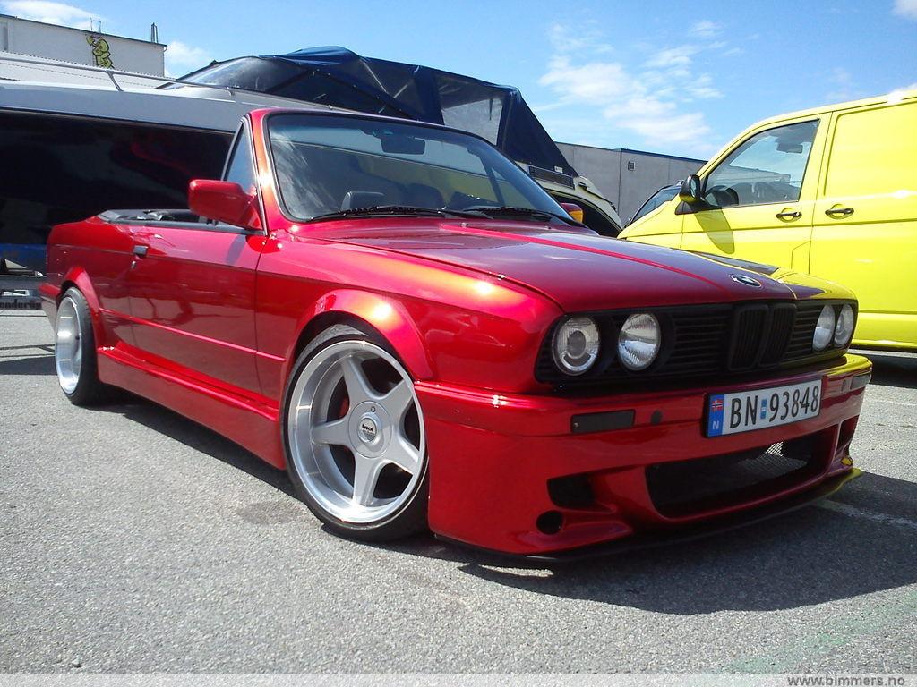 Bmw E30 Cab 325 M50b25 Apple Candy Red Bilder Og Filmer Show Off Bimmers No Bmw Forum