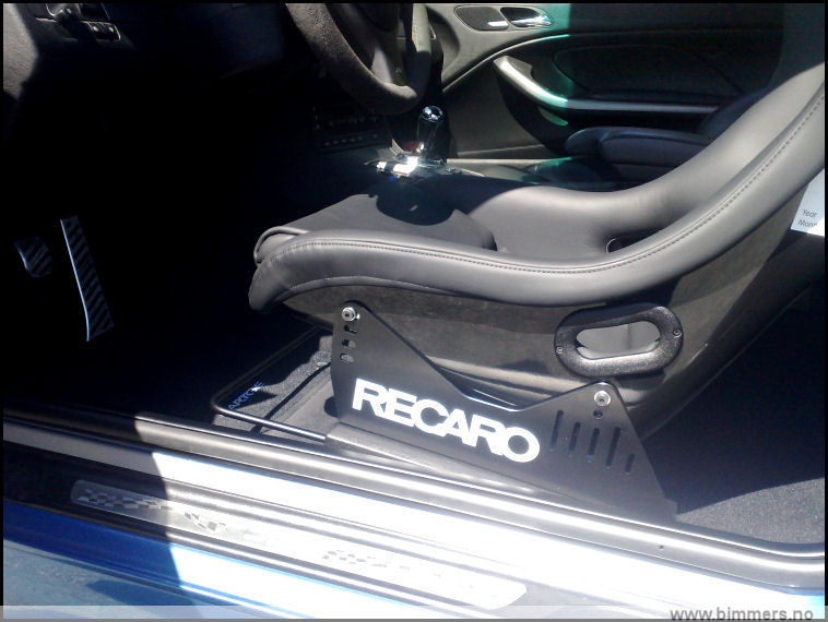 installed recaro pole position black leather diy e46fanatics. Black Bedroom Furniture Sets. Home Design Ideas