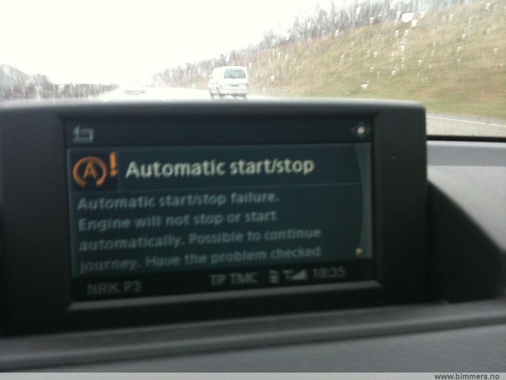 Automatic start/stop failure? - babybmw net